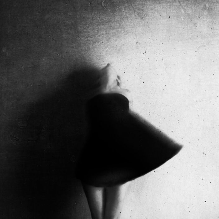 Fine art photography black and white self portrait by Alessandra Favetto